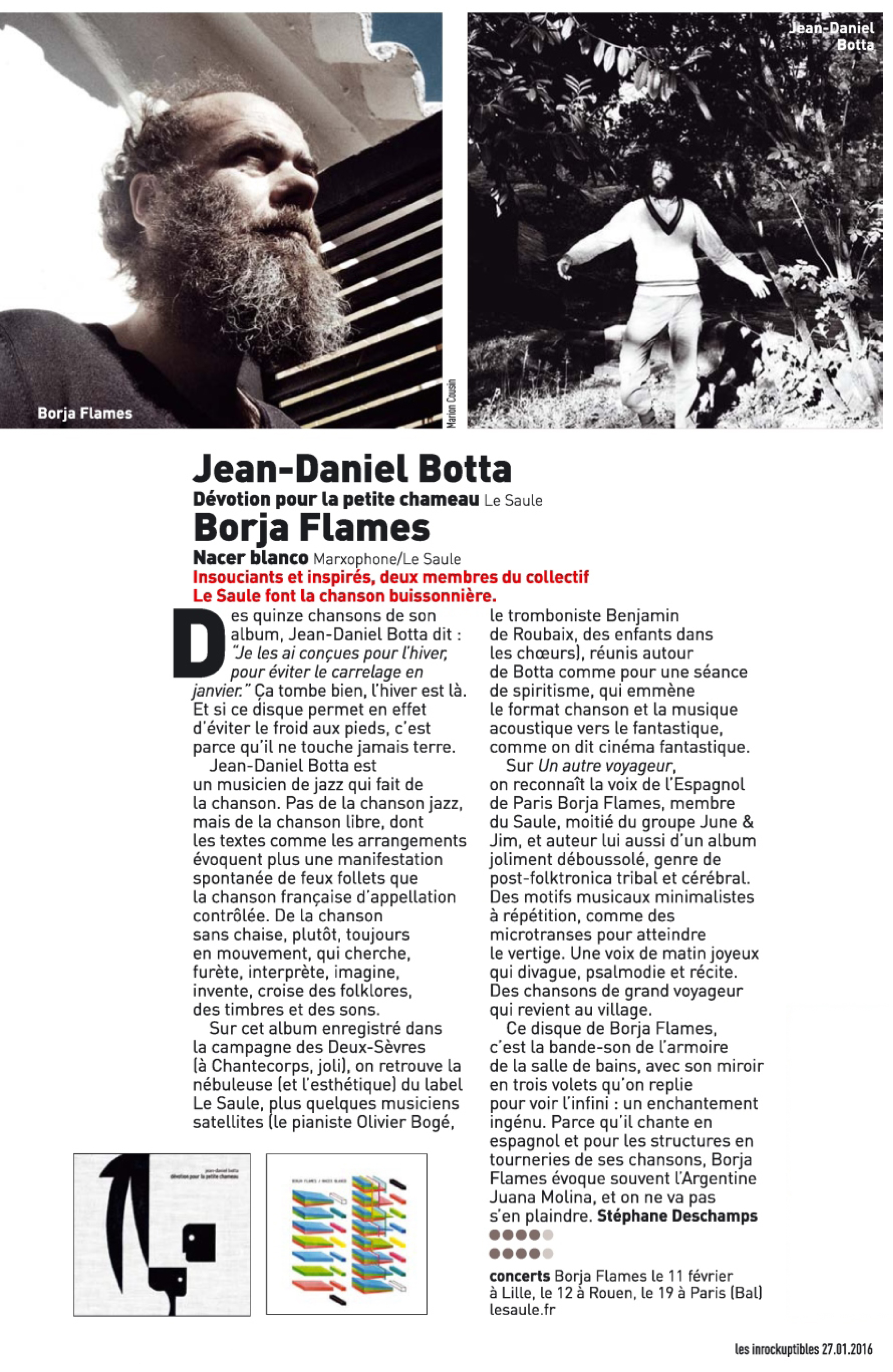 2016 01 27 Les Inrocks Borja Botta
